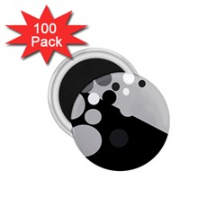 Gray decorative dots 1.75  Magnets (100 pack)