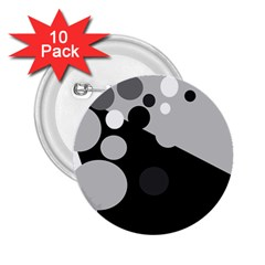 Gray decorative dots 2.25  Buttons (10 pack)