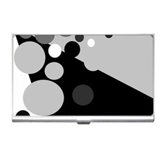 Gray decorative dots Business Card Holders