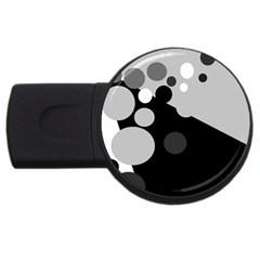 Gray decorative dots USB Flash Drive Round (1 GB)