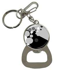 Gray decorative dots Bottle Opener Key Chains