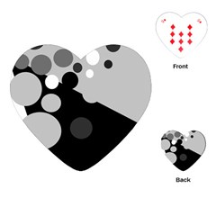 Gray decorative dots Playing Cards (Heart)