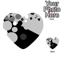 Gray decorative dots Playing Cards 54 (Heart)