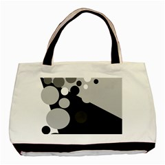 Gray decorative dots Basic Tote Bag (Two Sides)