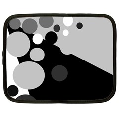 Gray Decorative Dots Netbook Case (large)