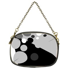 Gray decorative dots Chain Purses (One Side)