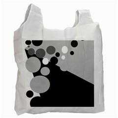 Gray decorative dots Recycle Bag (Two Side)