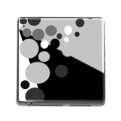 Gray decorative dots Memory Card Reader (Square)