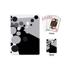 Gray decorative dots Playing Cards (Mini)