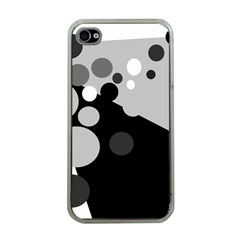 Gray decorative dots Apple iPhone 4 Case (Clear)