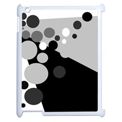 Gray decorative dots Apple iPad 2 Case (White)