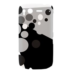 Gray decorative dots HTC Desire S Hardshell Case