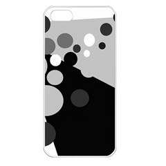 Gray decorative dots Apple iPhone 5 Seamless Case (White)