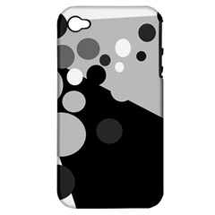 Gray decorative dots Apple iPhone 4/4S Hardshell Case (PC+Silicone)