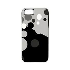 Gray decorative dots Apple iPhone 5 Classic Hardshell Case (PC+Silicone)