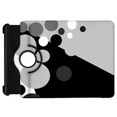 Gray decorative dots Kindle Fire HD Flip 360 Case