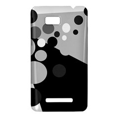 Gray decorative dots HTC One SU T528W Hardshell Case