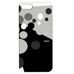 Gray decorative dots Apple iPhone 5 Hardshell Case with Stand