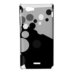 Gray decorative dots Sony Xperia J