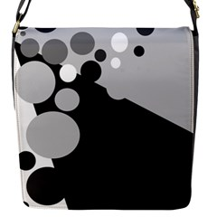 Gray decorative dots Flap Messenger Bag (S)