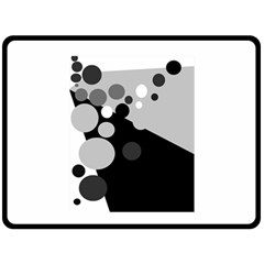 Gray decorative dots Double Sided Fleece Blanket (Large)