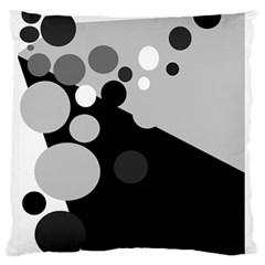 Gray decorative dots Standard Flano Cushion Case (One Side)
