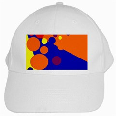 Blue and orange dots White Cap