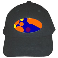 Blue and orange dots Black Cap