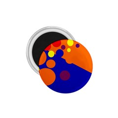 Blue and orange dots 1.75  Magnets