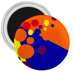 Blue and orange dots 3  Magnets