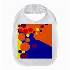Blue and orange dots Bib