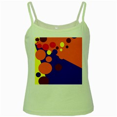 Blue and orange dots Green Spaghetti Tank