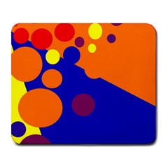 Blue and orange dots Large Mousepads