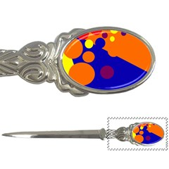 Blue and orange dots Letter Openers