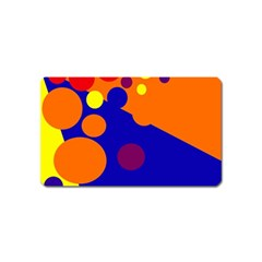 Blue and orange dots Magnet (Name Card)
