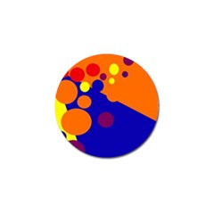 Blue and orange dots Golf Ball Marker (10 pack)