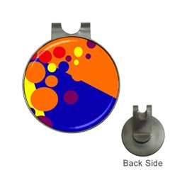 Blue and orange dots Hat Clips with Golf Markers