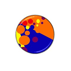 Blue and orange dots Hat Clip Ball Marker