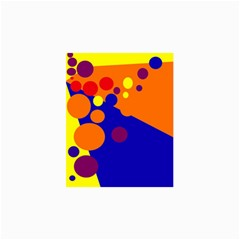 Blue and orange dots Collage Prints