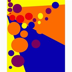 Blue and orange dots Canvas 20  x 20