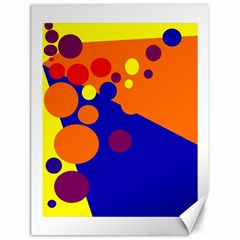 Blue and orange dots Canvas 18  x 24