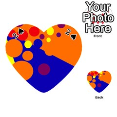 Blue and orange dots Playing Cards 54 (Heart)