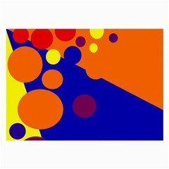 Blue and orange dots Large Glasses Cloth