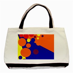 Blue and orange dots Basic Tote Bag (Two Sides)