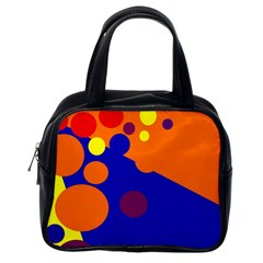 Blue and orange dots Classic Handbags (One Side)