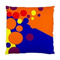 Blue and orange dots Standard Cushion Case (Two Sides)