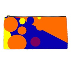 Blue and orange dots Pencil Cases