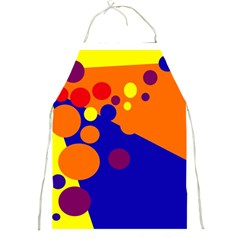 Blue and orange dots Full Print Aprons