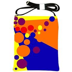 Blue and orange dots Shoulder Sling Bags