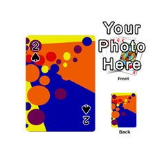 Blue and orange dots Playing Cards 54 (Mini)